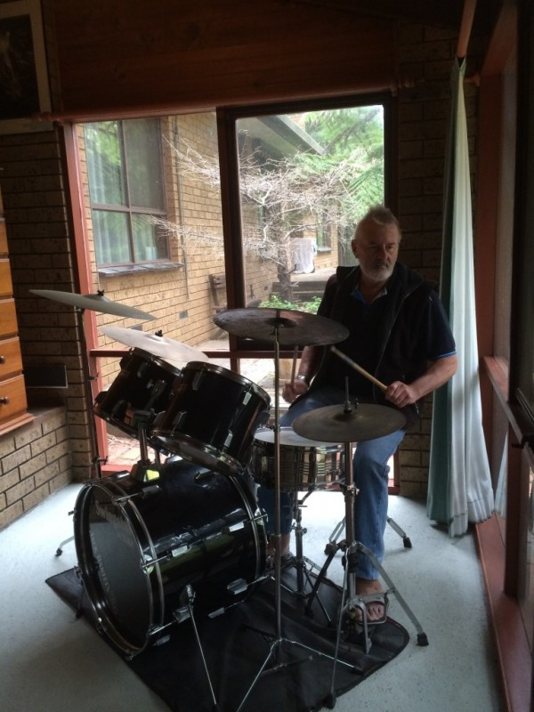 Baz on his drums