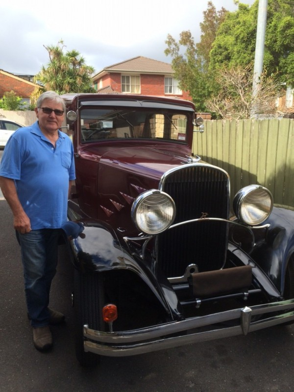 Ray with his classic Chrysler